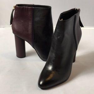 Cabi Bissett Bootie Size 8 Black Purple New